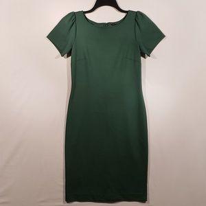 Ann Taylor emerald green midi dress